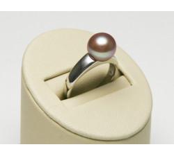 Bague Perle de Culture Eau Douce 9-9.5mm Lavande Qualité AAA