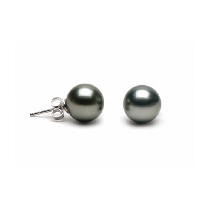 Boucles d`Oreilles Perles de Tahiti 9mm Qualité Perle: AAA