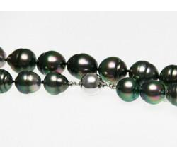 Collier Perles de Culture de Tahiti Forme Cerclées 10 à 13mm