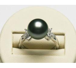 Bague Perle de Tahiti 10-11mm Or18ct T56 Qualité Perle AAA