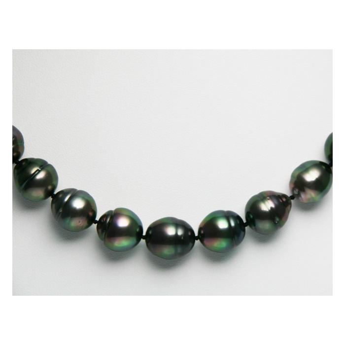 Collier Perles de Culture de Tahiti Forme Gouttes 10 à 13mm