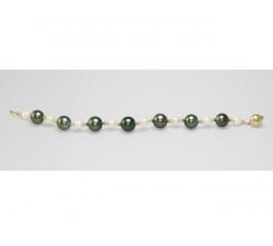 Bracelet Perles de Culture de Tahiti 10 à 11mm et Akoya 7mm