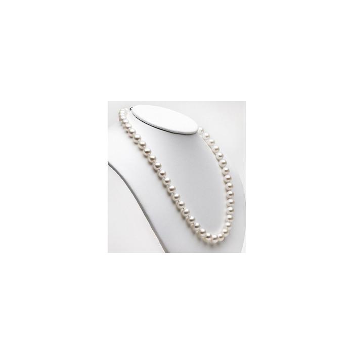 Collier Perles de Culture Akoya 7.5mm AAA L.45cm Or 14k