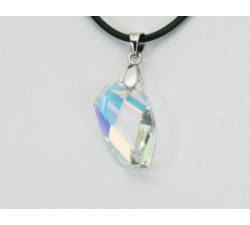 Pendentif Cristal SWAROVSKI Polygone 20mm Argent 925