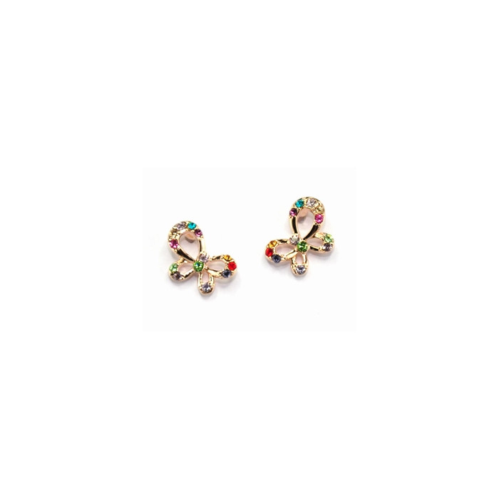 Boucles d`Oreilles Cristaux SWAROVSKI Papillons Multicolor