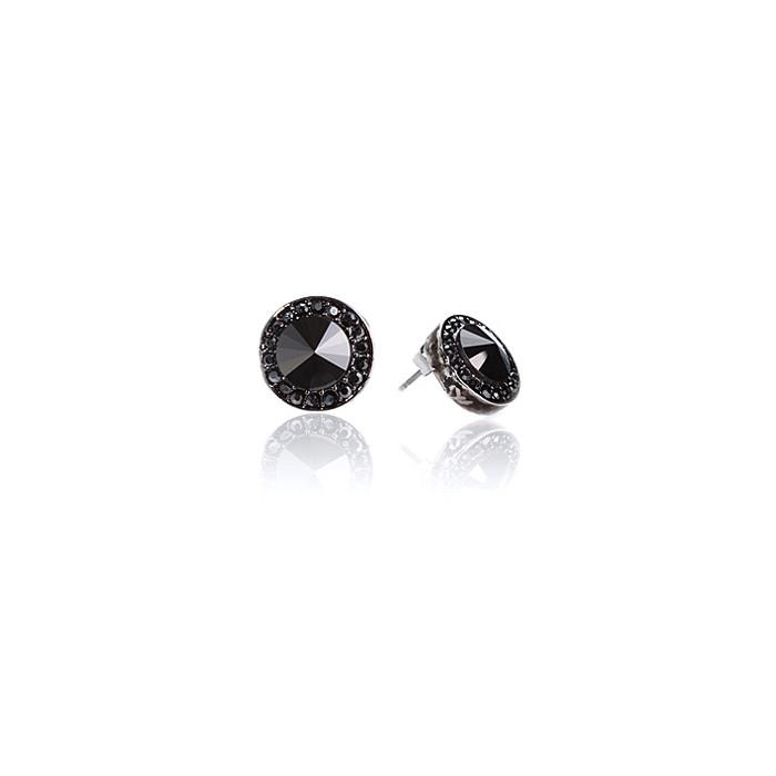 Boucles d'Oreilles Cristaux SWAROVSKI Clous Noir Hematite