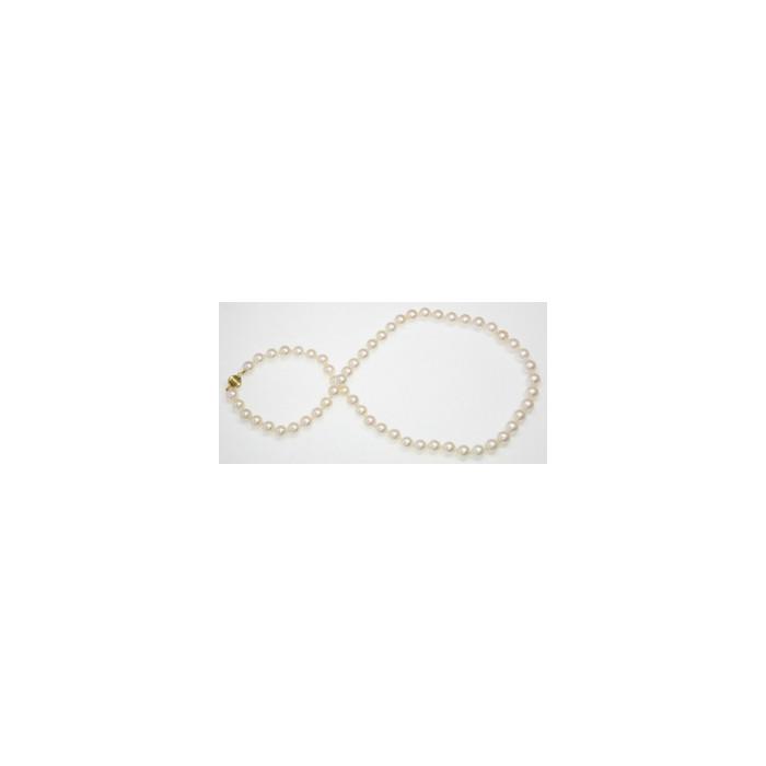 Collier de Perles de Culture Eau Douce Blanches 8mm AA+