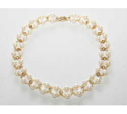 Collier Perles de Culture Blanches et Perles SWAROVSKI