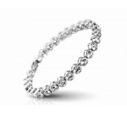 Bracelet Cristaux Swarovski Cristal Clair, Rhodium