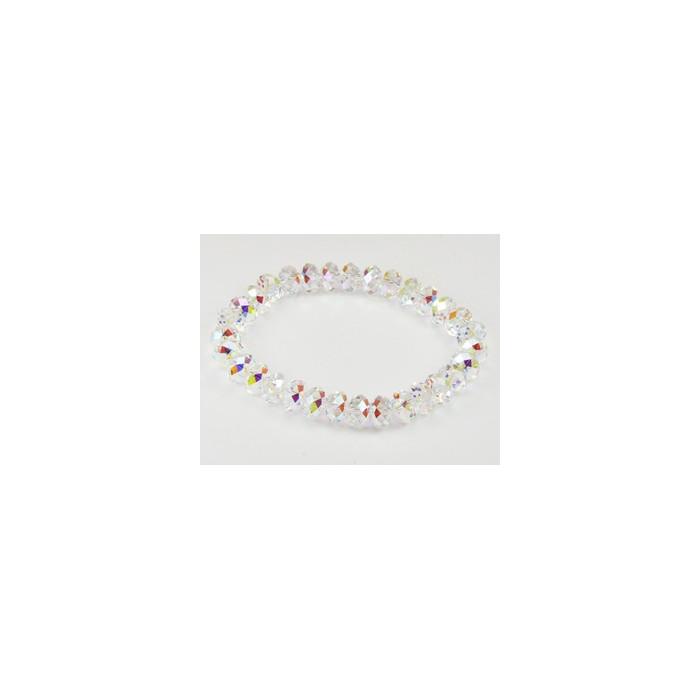 Bracelet Cristaux Swarovski Cristal Clair, Plaqué Or
