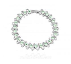 Bracelet Cristaux Swarovski Cristaux Verts, Rhodium