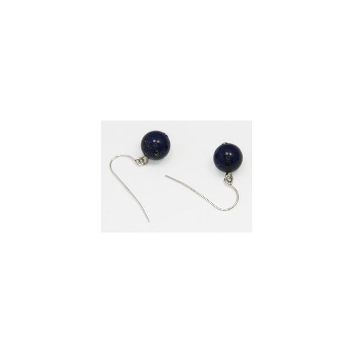 Boucles d'Oreilles Lapis Lazuli Dormeuses 8-9mm Argent 925