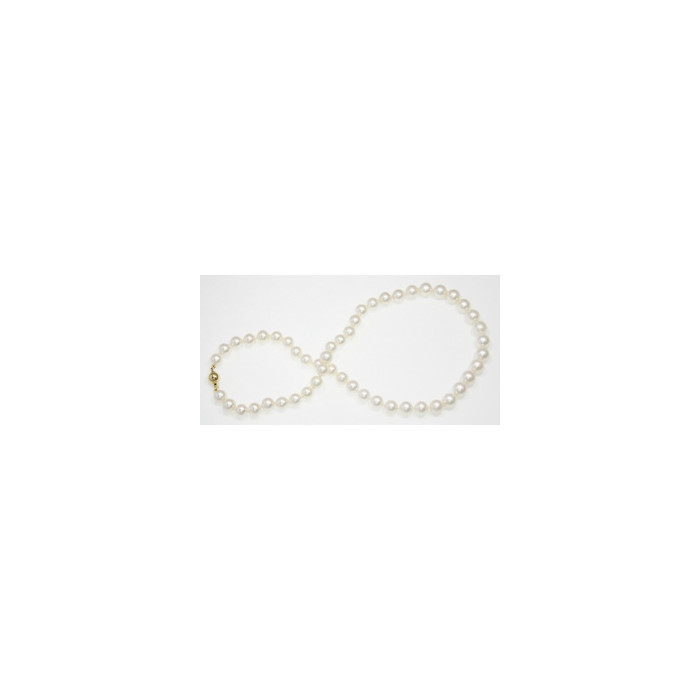 Collier de Perles de Culture Eau Douce Blanc 8.5mm AAA