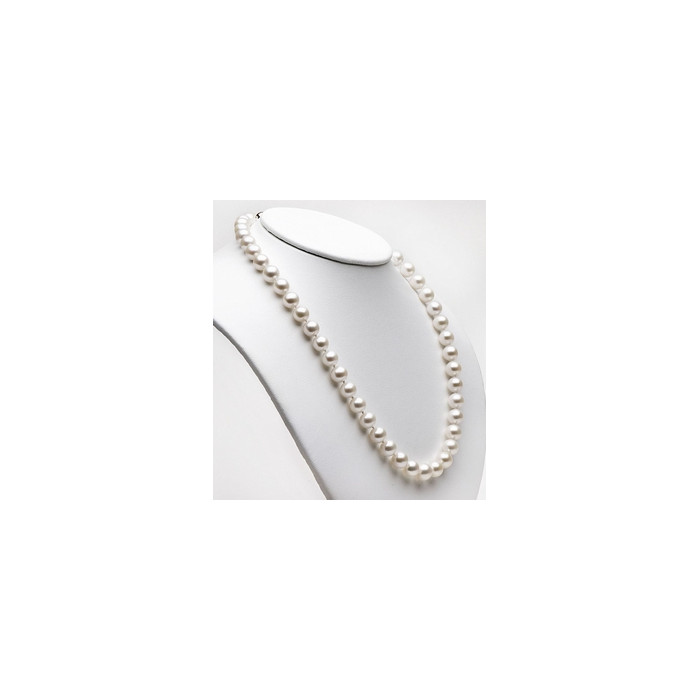 Collier de Perles de Culture Eau Douce Blanc 9mm AAA