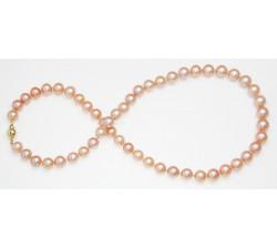 Collier de Perles de Culture Eau Douce Roses 7mm AA+