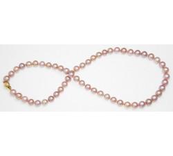 Collier de Perles de Culture Eau Douce Lavande 7.5mm AA+