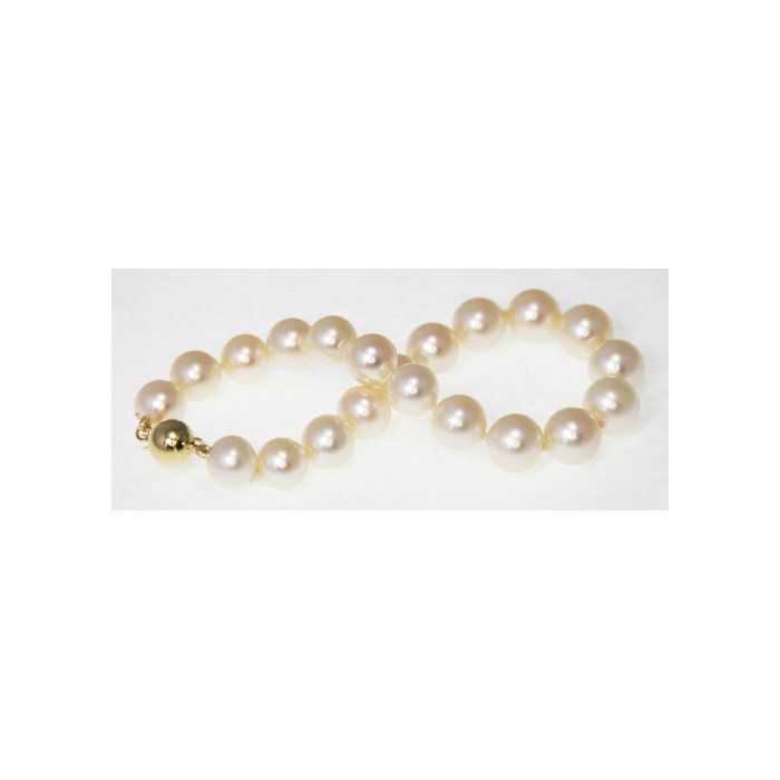 Bracelet de Perles de Culture Eau Douce Blanc 6.5-7.5mm AA+