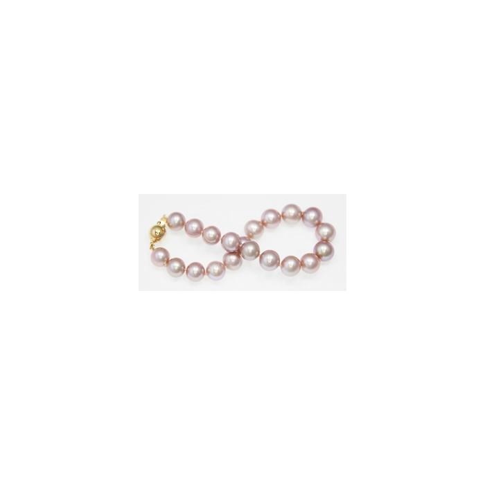 Bracelet de Perles de Culture Eau Douce Lavande 9mm AA+