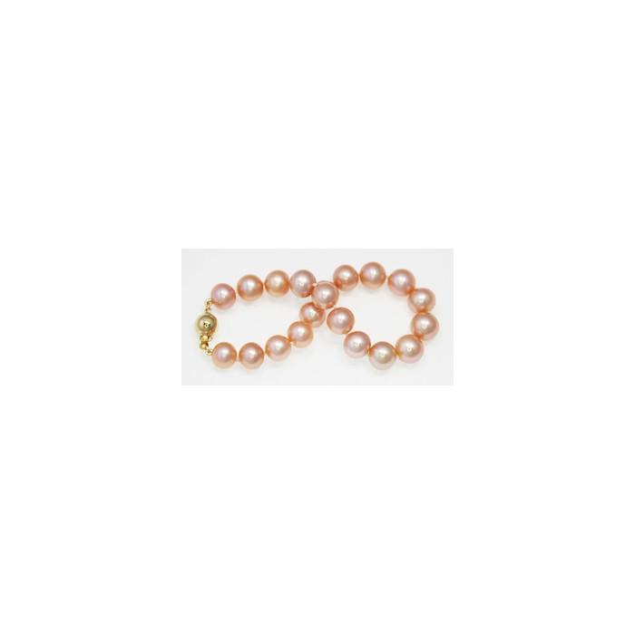 Bracelet de Perles de Culture Eau Douce Rose 9mm AA+